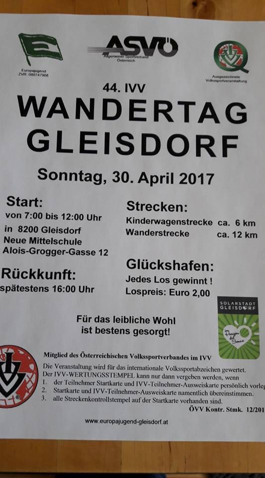 Ivv Wandertag In Gleisdorf Am 30042017